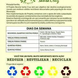 projeto recicla santa cruz