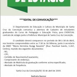 EDITAL ESTÁGIO-ABRIL 2019